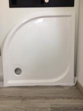 Marmorin OTERO 90 íves zuhany tálca