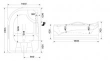 Wellis Dublo E-Drive™ TOUCH 180x130 cm hidromasszázs kád