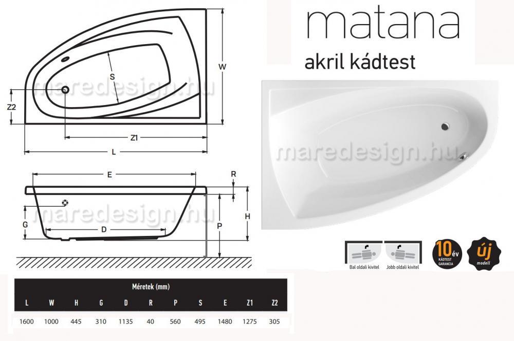 Wellis Matana E-Drive 160 csaptelep nélkül JOBBOS WK00172