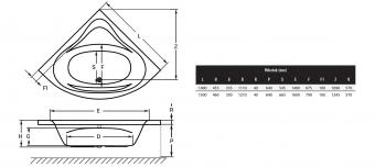 Wellis Bled sarokkád 150x150 cm AK00552