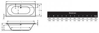 Wellis Ontario egyenes akril kád 190x90 cm AK00450