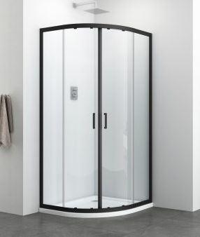 Sanotechnik Elite Black 90x90 cm  íves zuhanykabin R90B