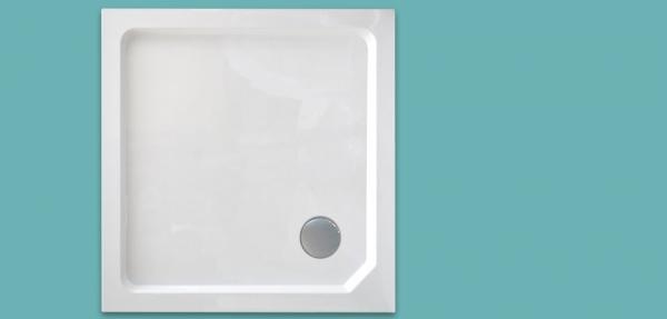 Wellis szögletes magas zuhanytálca 80x80x14 cm WC00525