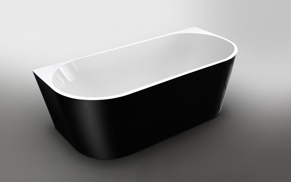 Wellis Calabria Black Matt térkád 170x80x58 cm
