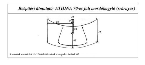 Athina 70 cm mosdókagyló