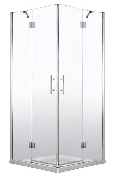 Deante Abelia szögletes zuhanykabin 80x80 cm