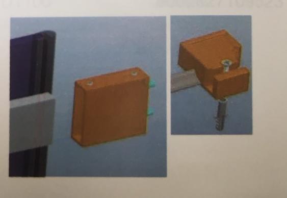 Sanotechnik DB00 fali rögzítő elem FENIX zuhanyfülke ajtóhoz