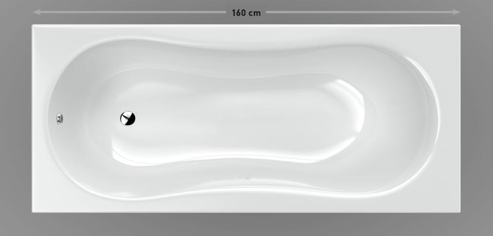 Wellis Aral egyenes akril kád 160x75 cm AK00548