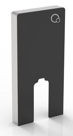 Wellis Corsica Black falsík előtti tartály álló WC-hez