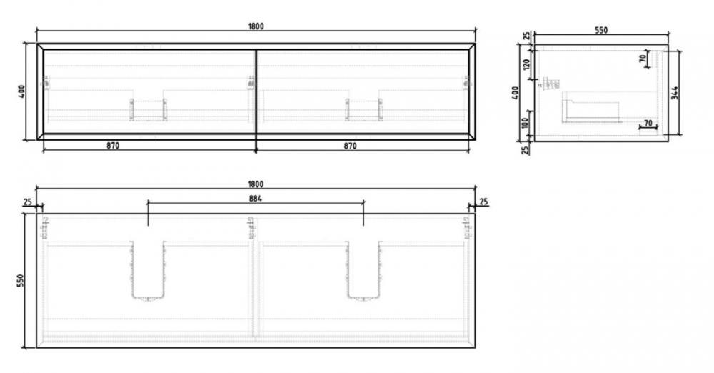Wellis Miletos 180 komplett fürdőszoba bútor