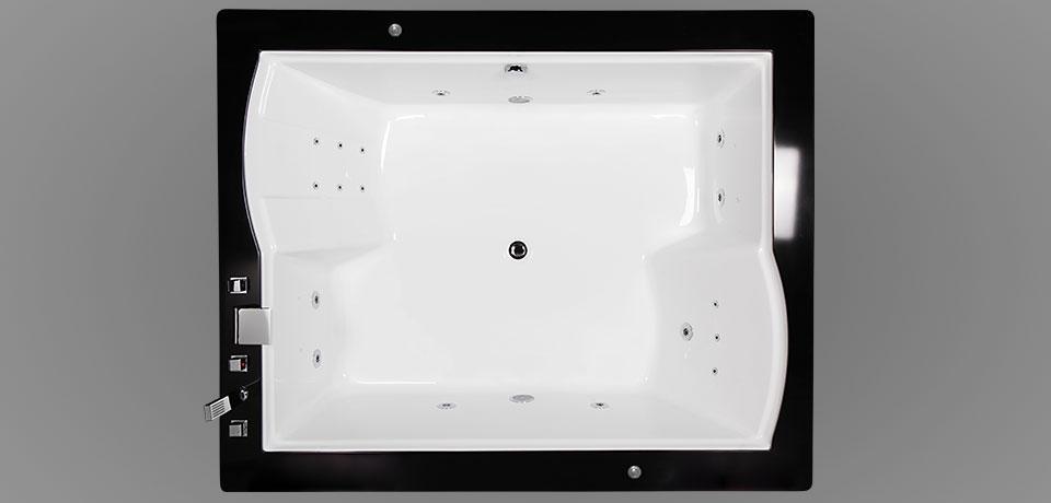 Wellis Nera Maxi Hydro™ 185x150 cm hidromasszázs kád WK00009-2