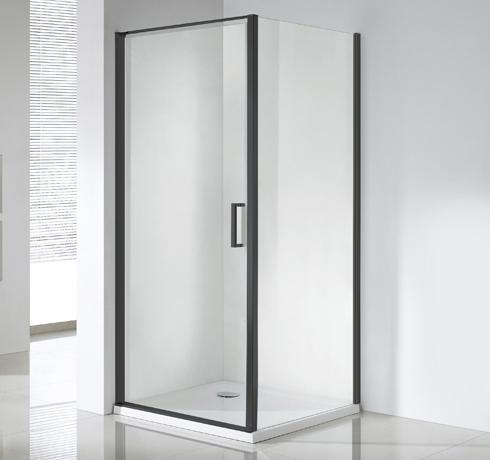 Wellis Quadrum Black zuhanykabin 90x90x190 cm