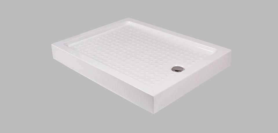 Wellis téglalap alakú magas zuhanytálca 120x80x13,5 cm