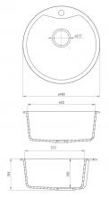 Deante Fiesta Solis 1 medencés kör alakú  ZRS2803