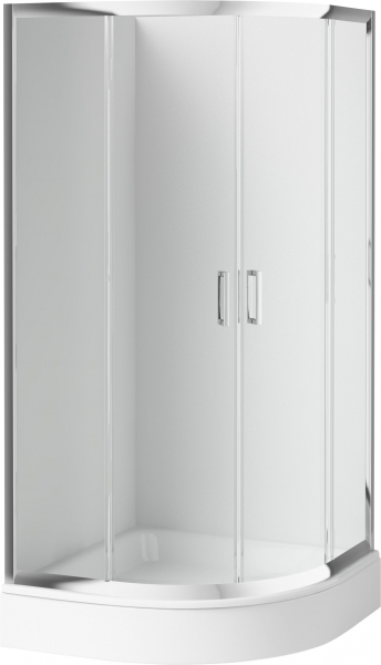 Deante Funkia 80x80 cm íves zuhanykabin akril tálcával