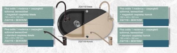 Deante Piva ovális szett standard csapteleppel ZQI711B + BEW760M