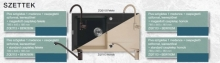 Deante Piva szögletes szett standard csapteleppel ZQI2113 + BEW260M