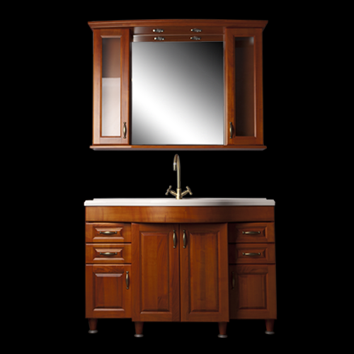 120 cm-es komplett borovi fenyő fürdőszoba bútor