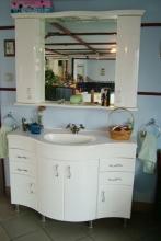 Glória 120 cm íves komplett fürdőszoba szekrény