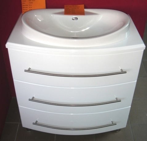 Gondola 80 cm íves fürdőszoba bútor