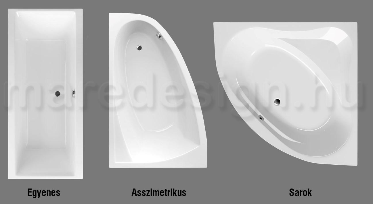Mindent a fürdőszoba felújításról 2. rész: Hogyan válasszunk fürdőkádat?