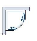 HSK Imperial negyedköríves zuhanykabin 100x100x200 cm