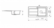 Marmorin Isao 1 medencés + csepegtetős mosogató + kihúzhatófejes csaptelep