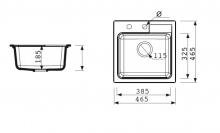 Marmorin Isao 1 medencés mosogató + kihúzhatófejes csaptelep