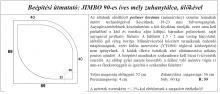 Jimbo 90x90 cm zuhanytálca