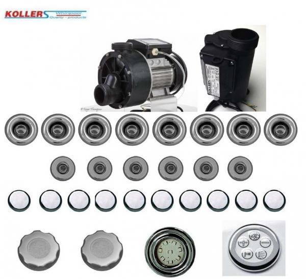 Koller 8+6 +10 meleg levegős hidro masszázs rendszer + világítás
