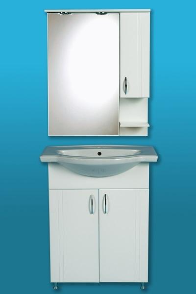 LIBRA 700 szekrény + Cersanit mosdó + Tükrös szekrény, vílágitással