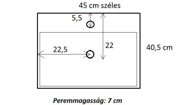 Málta Mini 45x40 cm mosdókagyló