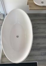 Selia öntött márvány szabadon álló fürdőkád