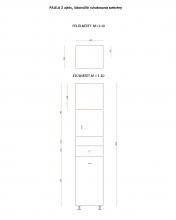 PAULA 2 ajtós, lábonálló ruhakosaras szekrény 400