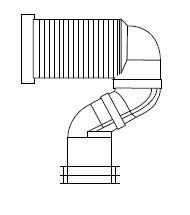 S WC bekötő álló és monoblokkos WC-hez