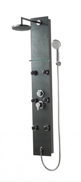 Sanotechnik BARCELONA zuhanypanel fekete DG8039