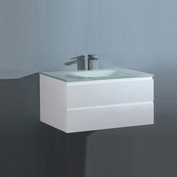 Sanotechnik CUBE 70 függesztett alsóbútor, üvegmosdóval
