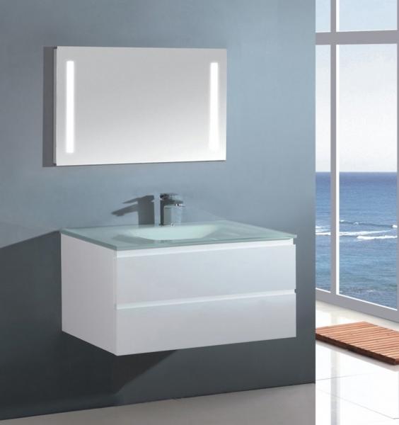 Sanotechnik Cube 70 komplett fürdőszoba bútor, üveg mosdóval