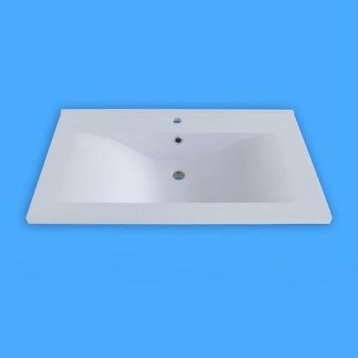 Sanotechnik öntött márvány mosdó, ráépíthető D7050