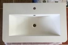 Sanotechnik öntött márvány mosdó, ráépíthető D8050
