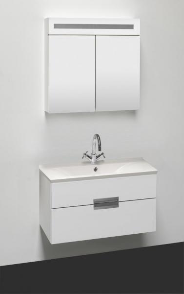 Sanotechnik RAVE 90 komplett fürdőszoba bútor fehér