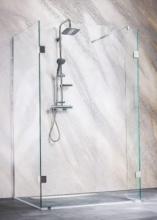 Sanotechnik Sanoflex Wide I MC1090 három részes zuhanyfal 98x88/30x195 cm