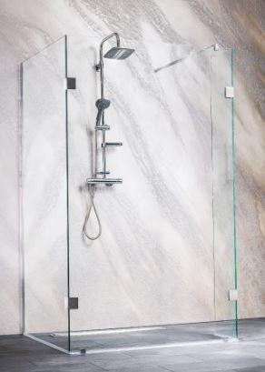 Sanotechnik Sanoflex Wide I MC1180 három részes zuhanyfal 108x78/30x195 cm
