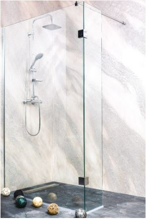 Sanotechnik Sanoflex Wide II MS120 kétrészes zuhanyfal 119x30x195 cm