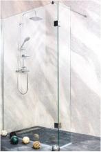 Sanotechnik Sanoflex Wide II MS130 kétrészes zuhanyfal 129x30x195 cm