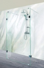 Sanotechnik Sanoflex Wide MU130 háromrészes zuhanyfal 128x30/30x195 cm