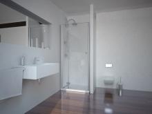 Sanotechnik SMARTFLEX 100 cm zuhanyajtó, balos D12100L