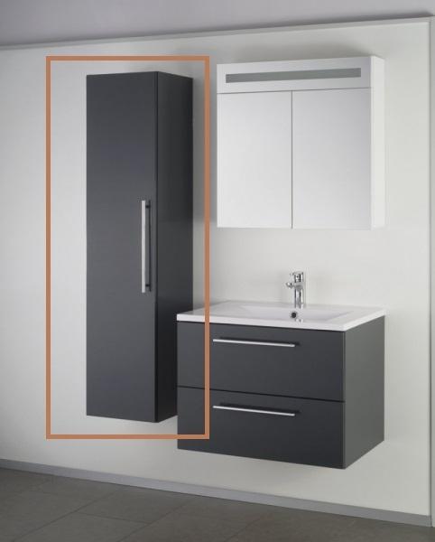 Sanotechnik SWEET/FIORA fali kiegészítő szekrény, antracit 70800