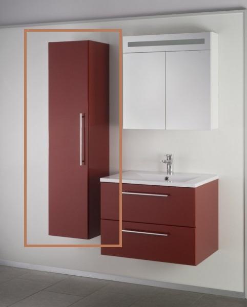 Sanotechnik SWEET/FIORA fali kiegészítő szekrény, bordó 70900