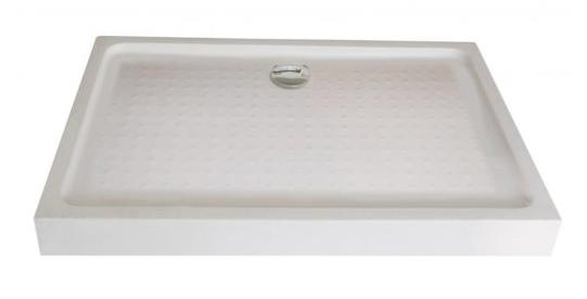Sanotechnik Zuhanytálca fix előlappal 120x80x15 cm  P128